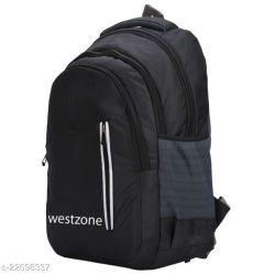 Classy Men's Black Polyester Backpacks