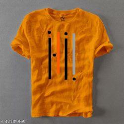 Urban Cotton T Shirt For Man Yellow