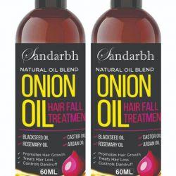 Sandarbh Onion Oil for Hair Regrowth & Hair Fall Control Hair Oil (Multipack : 2)