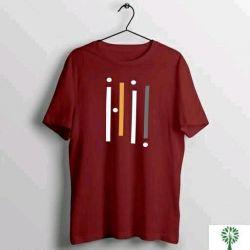 Urban Cotton T Shirt For Man Maroon