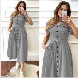 Trendy Fashionable Women Dresses Gray