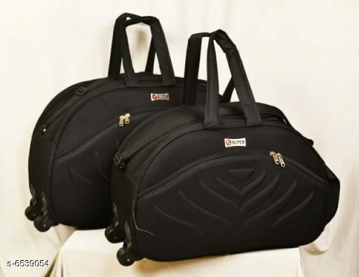 Gorgeous Alluring Travel Duffle Bags Combo (BLACK)