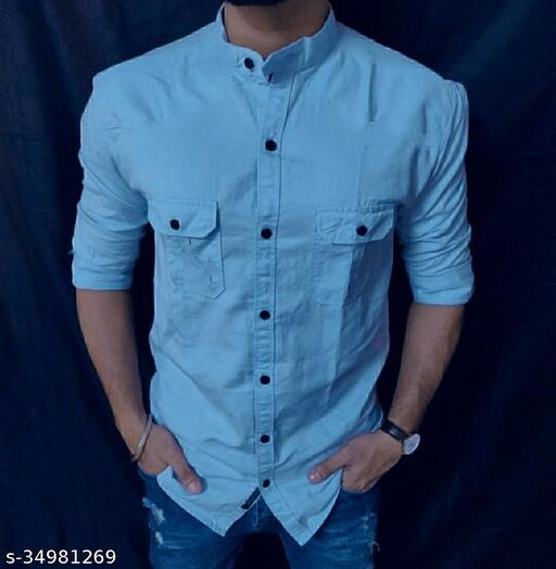 Majestic Cotton Shirt For Men Blue
