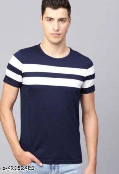 Fancy Partywear Men T Shirts Blue