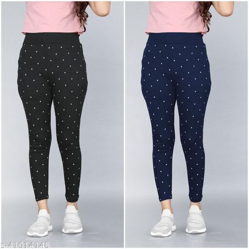 Women's Slim Fit Jeggings Pack Of 2(Size:-26 to 36)