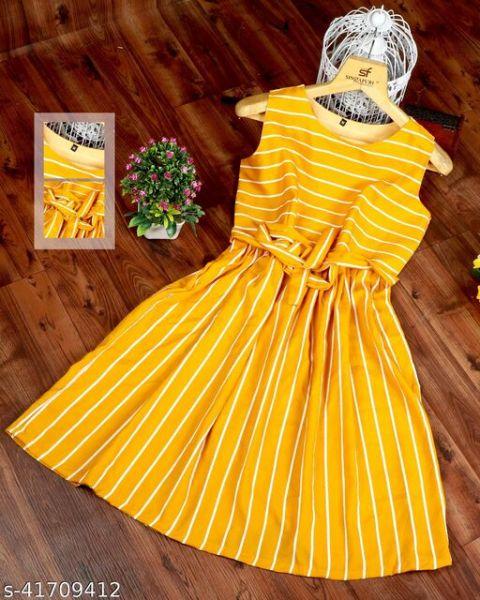 Classy Glamorous Women Dresses Yellow