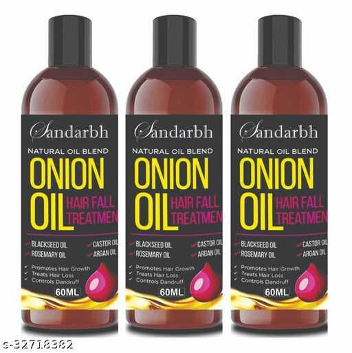 Sandarbh Onion Oil for Hair Regrowth & Hair Fall Control Hair Oil (Multipack : 3)