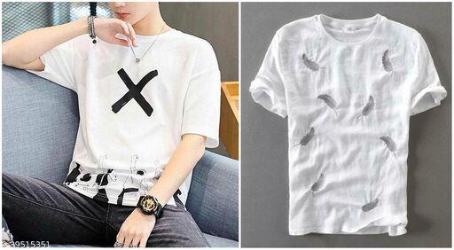Fashion Globe Best Selling Printed Half Sleeves T Shirt for Man X