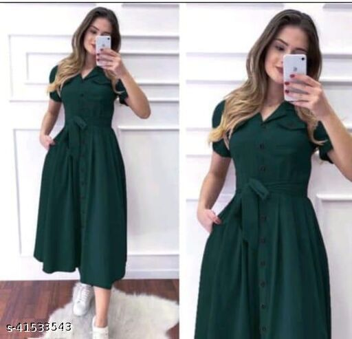 Comfy Fashionista Women Dresses Green