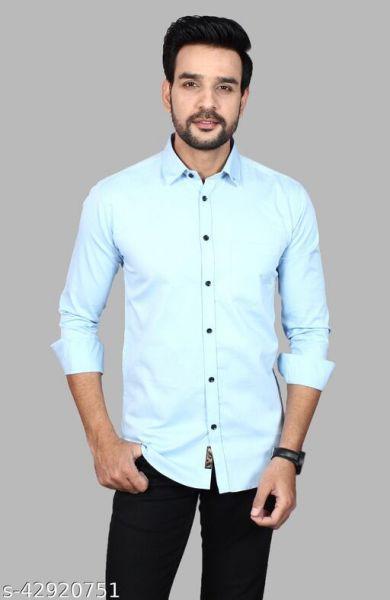 Men's Premium Cotton Casual Full Sleeve Shirt Color