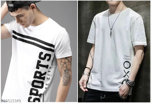 Fashion Globe Best Selling Printed Half Sleeves T Shirt for Man OXO