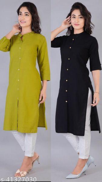 Trendy Cotton Kurtis Combo 2 Color