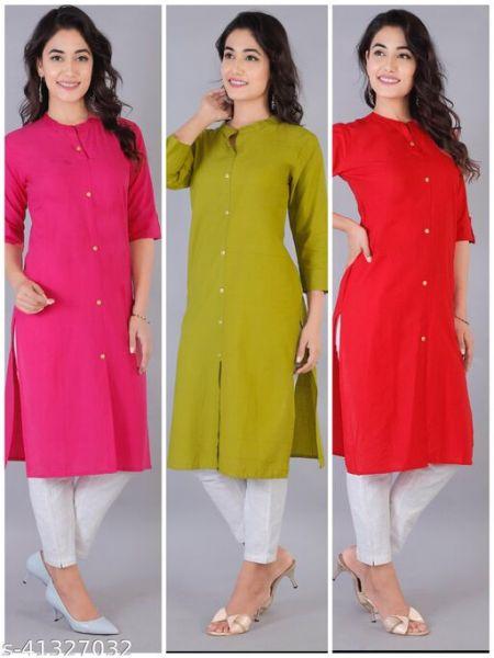 Trendy Cotton Kurtis Combo of 3