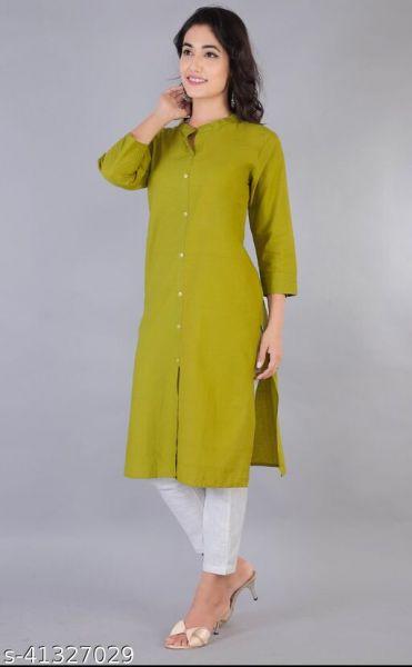 Trendy Cotton Kurtis Single Color
