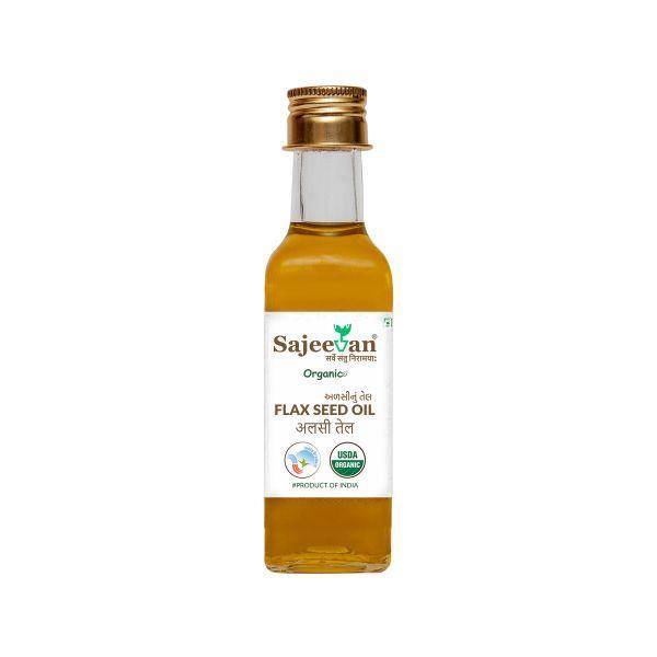 ઓર્ગેનિક અળસીનું તેલ (FLAX SEED OIL) - 200 ML (SAJEEVAN)