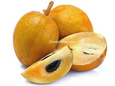 Sapodilla plum (ચીકુ) Chiku