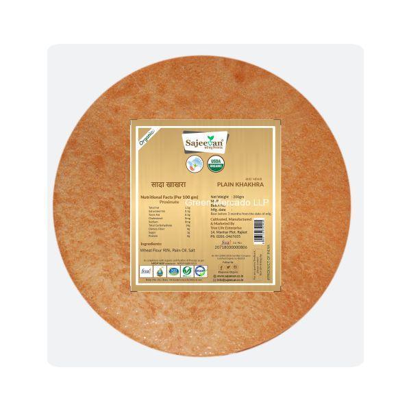 ઓર્ગનિક કાલા ઘઉં ના રાગી ખાખરા -200 GMS (SAJEEVAN)