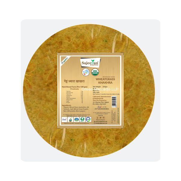 ઓર્ગનિક ઘઉં જુવાર ખાખરા-200 GMS (SAJEEVAN)