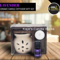 Lavender Ceramic Candle Diffuser Gift Set