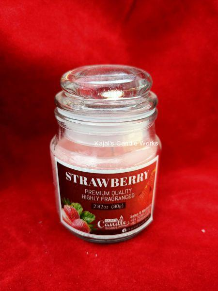 Strawberry Scented Candles 80gm
