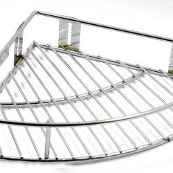 Vaishvi Stainless Steel 9 inch  Corner Hanger Basket for Kitchen & Bathrooms (Silver, Standard)