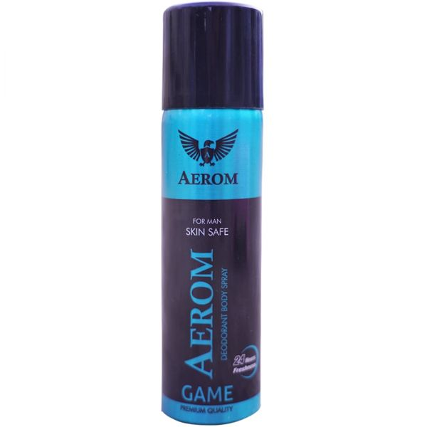 Aerom Game and Game Deodorant Body Spray For Men, 300 ml (Pack of 2)