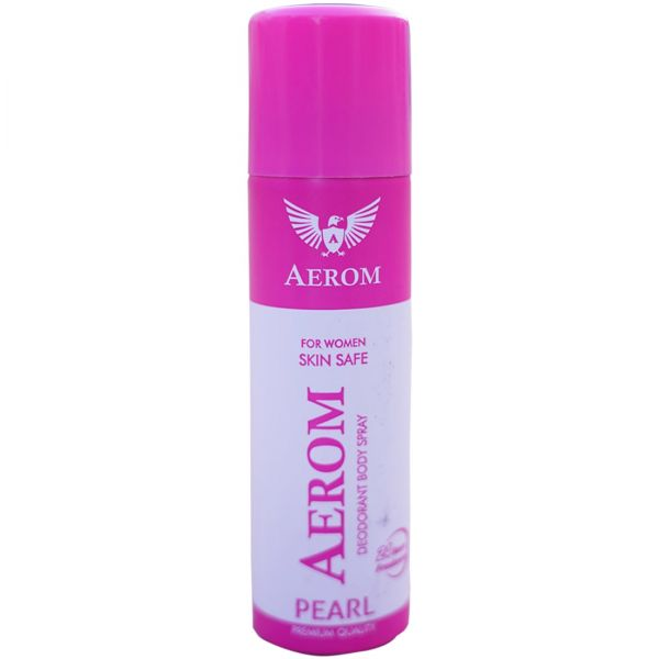 Aerom Pearl and Ruby Deodorant Body Spray For Men and Women, 300 ml (P