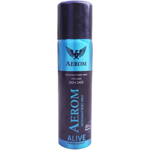 Aerom Alive and Energy Deodorant Body Spray For Men, 300 ml (Pack of 2