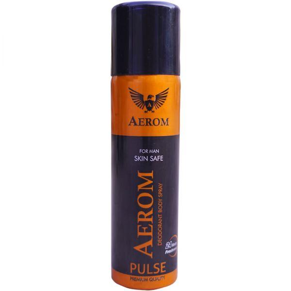 Aerom Pulse and Energy Deodorant Body Spray For Men, 300 ml (Pack of 2