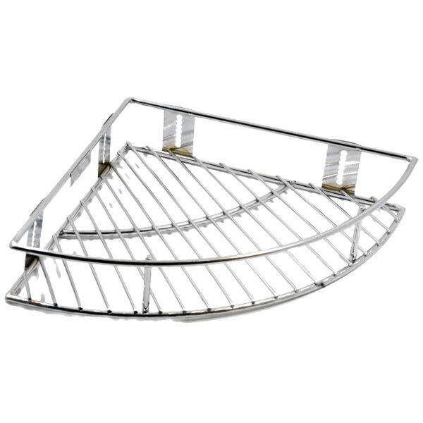 Vaishvi Stainless Steel 12 inch  Corner Hanger Basket for Kitchen & Bathrooms (Silver, Standard)