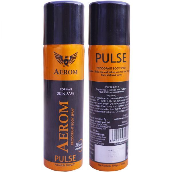Aerom Pulse Deodorant Body Spray For Men, 150 ml (Pack of 1)