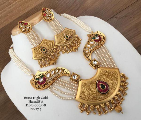 Brass high gold hasadiset