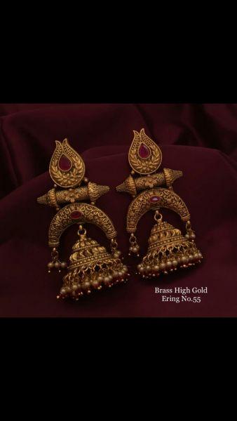 Brass gold earrings