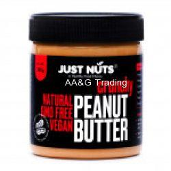 Just Nuts All Natural Crunchy 100 Roasted Sugar Free Peanut Butter  Makkhan Jar (340 g)
