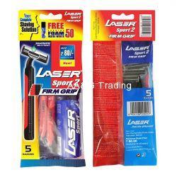 Laser Sport Firm Grip Razor (Pack of 5)