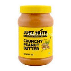 Just Nuts All Natural Crunchy 100 Roasted Sugar Free Peanut Butter  Makkhan Jar (1kg)