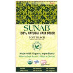 Radico SUNAB 100 Natural USDA Certified Hair Color (Soft Black)
