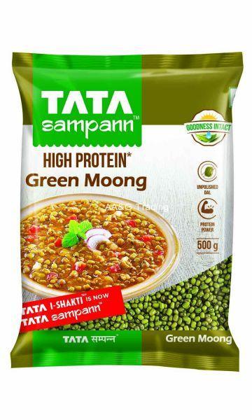 Tata Sampann Unpolished Green Moong Sabut (500g)