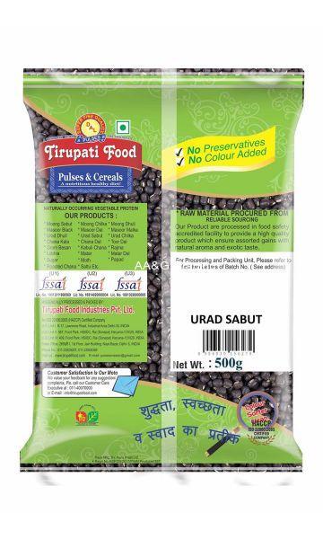 Tirupati Food Whole  Sabut Urad Dal  Pulses (500 gm)
