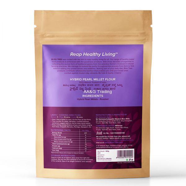 Bliss Tree Pearl Hybrid Millet Flour  Kambu (400 gm)