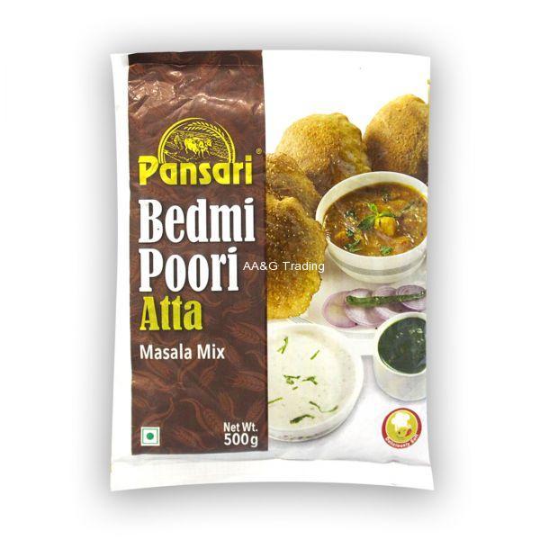 Pansari Bedmi Poori Atta Masala Mix  Flour Pouch (500g)