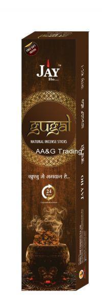 Jay Ho Natural Gugal Incense Sticks  Agarbatti (100gm)