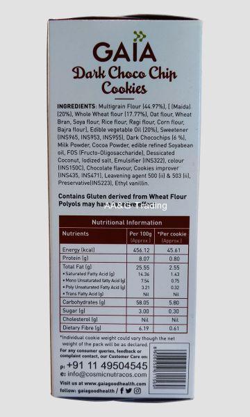 Gaia Dark Choco Chip Cookies (200 g)