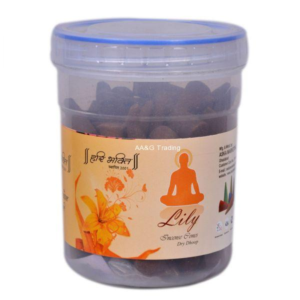 Hari Bhakti Lily Dhoop Cones with Free Gift Inside (150g)