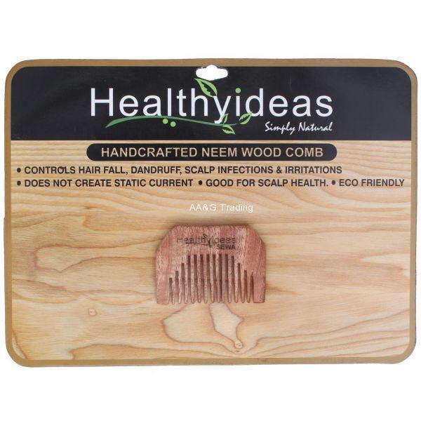 Healthy Ideas Sewa Hand Crafted Herbal Neem Wood Comb