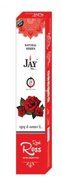 Jay Ho Natural Rose Incense SticksAgarbatti (100gm)