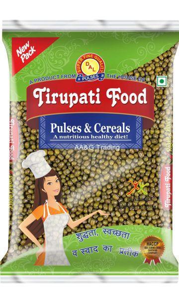 Tirupati Food Whole  Sabut Moong Dal   Pulses (1Kg)