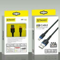 Rs 75 Per Pcs (Set of 4 Pcs) 3A Fast Data Cable with warranty