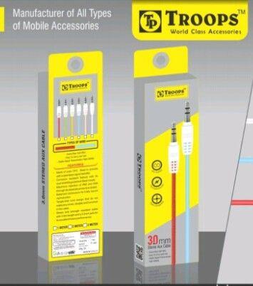 Rs 16 Per Pcs (Set of 10 Pcs) Troops Aux Cable 1 Mtr