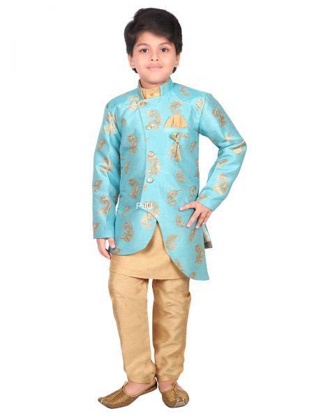 Blue sherwani with pants